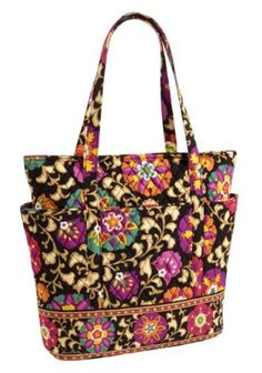 "$84.00 Vera Bradley Go Round Tote in Suzani - Presenting a new ""spin"" on a favorite style. We added generous slip pockets that wrap all around this tote for an organized, spacious option. A breakaway zip closure keeps things safe, yet accessible. http://www.amazon.com/dp/B005EHNY1G/?tag=pin0ce-20"