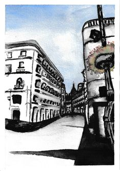Madrid watercolour painting Watercolour Painting, Madrid, Louvre, Photo And Video, Black And White, Artwork, Travel, Instagram, Blanco Y Negro