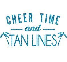 Cheer Time Tan Lines Iron On Decal by GirlsLoveGlitter on Etsy