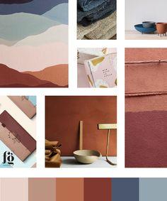 moodboard and color palette for Victoria Amores Chocolate Colour Pallette, Colour Schemes, Color Patterns, Color Terracota, Colorful Interiors, Color Inspiration, Paint Colors, Painting, Electrum