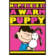 """Marmont Hill - """"Lucy and Snoopy Warm Puppy"""" Peanuts Print on"""