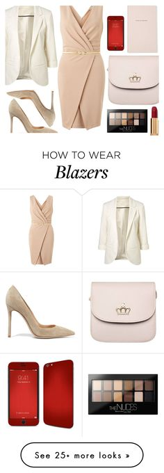 """""""party"""" by nicholas-the-third on Polyvore featuring Miss Selfridge, Gianvito Rossi, Maybelline, Chanel and Kate Spade"""