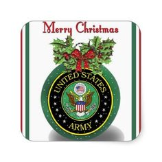 Military Army Christmas Stickers