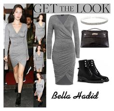 """""""Bella Hadid With The Weeknd Madeo Restaurant In L.A June.17.2016"""" by valenlss ❤ liked on Polyvore featuring Hermès, Danielle Guizio and Christian Dior"""