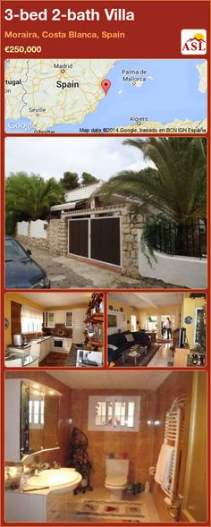 3-bed 2-bath Villa in Moraira, Costa Blanca, Spain ►€250,000 #PropertyForSaleInSpain