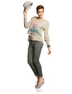 Heine - Two-in-one-Pullover beige im Heine Online-Shop kaufen