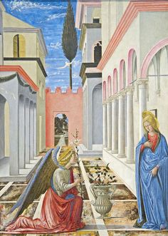 Fra Carnevale (painter) Italian, The Annunciation, c. 1445/1450. NGA, Washington, DC by renzodionigi, via Flickr