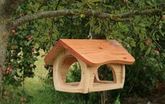 Wooden bird feeder | garden | Pinterest | Wooden Bird Feeders, Bird Feeders and Birds