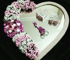 Diy Wedding Ring, Ring Pillow Wedding, Wedding Prep, Wedding Crafts, Engagement Basket, Engagement Ring Platter, Engagement Decorations, Wedding Decorations, Bridal Wine Glasses