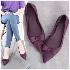 Flat Shoes Outfit, Casual Shoes, Women's Shoes, Rain Shoes, Pointed Flats, Pointy Toe Flats, Narrow Shoes, Girls Shoes, Shoes Women
