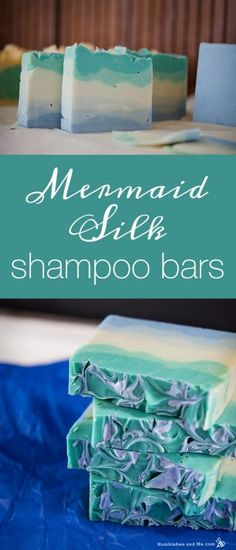 Coconut Oil Uses - Mermaid Silk Shampoo Bars More 9 Reasons to Use Coconut Oil Daily Coconut Oil Will Set You Free — and Improve Your Health!Coconut Oil Fuels Your Metabolism! Shampoo Bar Diy, Homemade Shampoo And Conditioner, Lush Shampoo, Diy Savon, Do It Yourself Inspiration, Style Inspiration, Homemade Soap Recipes, Bath Recipes, Homemade Soap Bars