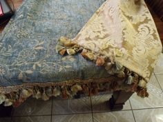 34x51 Teal Chenille & Gold Jacquard Reversible by EwcHomeDesigns, $40.00