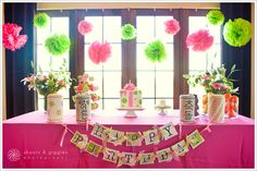 {PARTY} Lime Green & Hot Pink Polka Dots | Life & Baby | Baby Showers : Parties : Nurseries : Baby Products : Baby Deals
