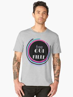 T-shirt premium homme 'Free oui fille - free wifi ' par LEAROCHE Free Wifi, T Shirt, Mens Tops, Supreme T Shirt, Tee Shirt, Tee