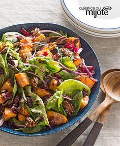 Salade de patate douce et de pacanes confites #recette