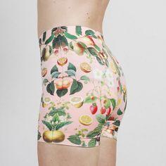 Peach Fruit Bike Shorts -- strathcona stockings