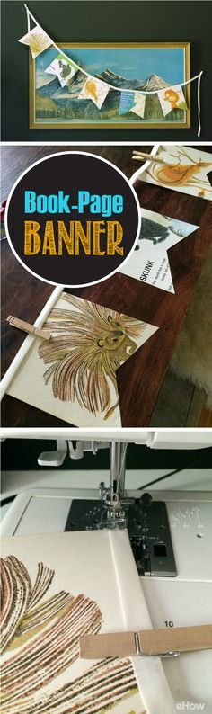 Get the kids excited about going back to school with easy to make book-page banner decorations around the house or classroom! Such a fun arts and craft project that is also great decor! http://www.ehow.com/how_12340663_make-bookpage-banner.html?utm_source=pinterest.com&utm_medium=referral&utm_content=freestyle&utm_campaign=fanpage