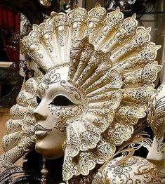 Mask for Mardi Gras. Venetian Carnival Masks, Carnival Of Venice, Venetian Masquerade, Masquerade Party, Masquerade Masks, Venitian Mask, Costume Venitien, Venice Mask, Beautiful Mask