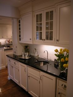 Kitchen Absolute Black Granite Countertop Design, Pictures, Remodel, Decor and Ideas