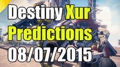 "Destiny Xur Agent Of The Nine Exotic Items Predictions 08/07/2015 ""Xur E..."