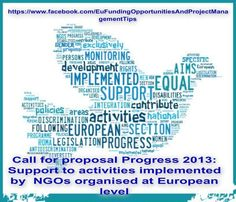 Call for proposal Progress 2013: Support to activities implemented by  NGOs organised at European level JUST/2013/PROG/AG/NGOS