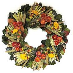 Bronze Strawflower Wreath