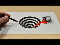 Art Discover Easy How to Draw a Round Hole on Paper 3d Pencil Drawings, 3d Art Drawing, Paper Drawing, Art Drawings Sketches Simple, Hole Drawing, Easy Drawings, Drawing Ideas, Optical Illusions Drawings, Illusion Drawings