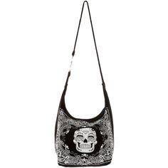 Sugar Skull Bandana Hobo Bag Hot Topic 1 Liked On Polyvore Featuring