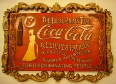 COKE SIGNS | Vintage Coke sign carved on a Sears CarveWright machine...