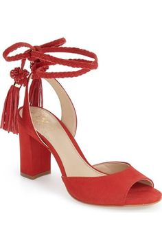 Vince Camuto 'Vianna' Block Heel Wraparound Ankle Tie Sandal (Women) available at #Nordstrom