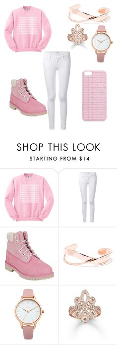 """""""Almost Tim season """" by hillary-adjei ❤ liked on Polyvore featuring Frame Denim, Timberland and Oasis"""