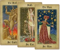 .Tarot ~ I own a few sets, although they are not my preferred medium ~ one set belongs to Grandma and I will not part with them til one of my girls inherits the set from me........