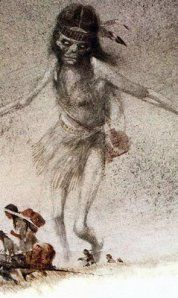 "The Acheri is a Chippewa legend of a young girl who dies a ""bad death."" Usually this would mean the child was either murdered or, more likely, abused and then murdered or left for dead."