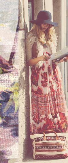 vintage hippie style. <3 #hippie #style #vintage