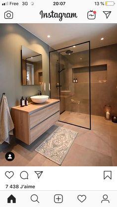 Ideas Bathroom Remodel Shower Design Toilets For 2019 Bathroom Design Luxury, Modern Bathroom Design, Modern House Design, Washroom Design, Modern Bathroom Cabinets, Bathroom Design Layout, Minimal Bathroom, Contemporary Bathrooms, Home Room Design