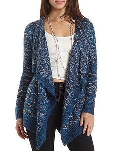 Marled Cascade Cardigan Sweater