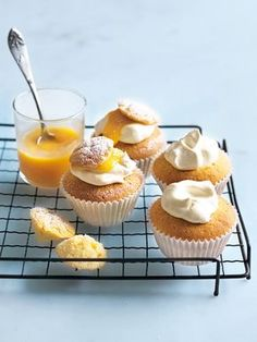 Lemon Curd Cupcakes | Donna Hay