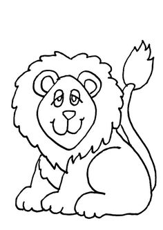Un bébé lion, dessin facile à colorier
