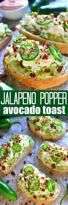 Jalapeño Popper Avocado Toast | Try it out on Jimmy John's Day Old Bread!