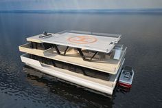 Houseboat Baikal 20  with helipad
