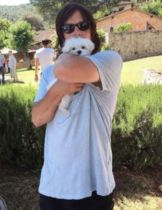 Norman Reedus and 'Cheeky' photographed by Chris Brenner in July 2016                                                                                                                                                      More