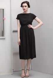 short sleeve black dress $59