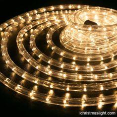 Christmas decorative warm white rope lights | iChristmasLight Christmas Rope Lights, Outdoor Christmas Decorations, Led Rope Lights, Icicle Lights, Fairy Lights, Outdoor Deck Decorating, Outdoor Lighting, Rope Lighting, Lighting Ideas