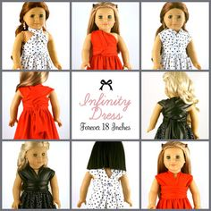 """Infinity Dress 18"""" Doll Clothes  So Cute!!!"""