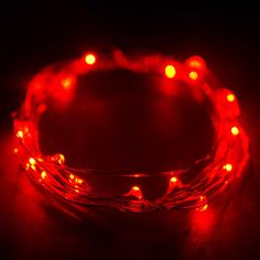 6FT Red LED Light Lamp Fairy Strings For Wedding Party Outdoor Decoration