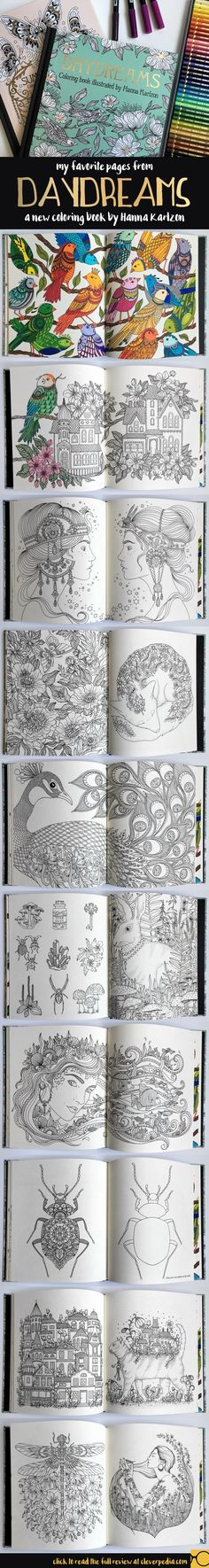 Daydreams Is A Gorgeous New Adult Coloring Book By Swedish Artist Hanna Karlzon Here Are