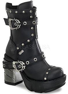 Sinister-201 demonia shoes chrome heel