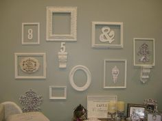 Love vintage frames and gallery walls!