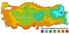 Türkiye bitki soğuğa dayanıklılık haritası