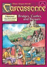 Carcassonne Board Game Expansion Bridges, Castles, and Bazaars